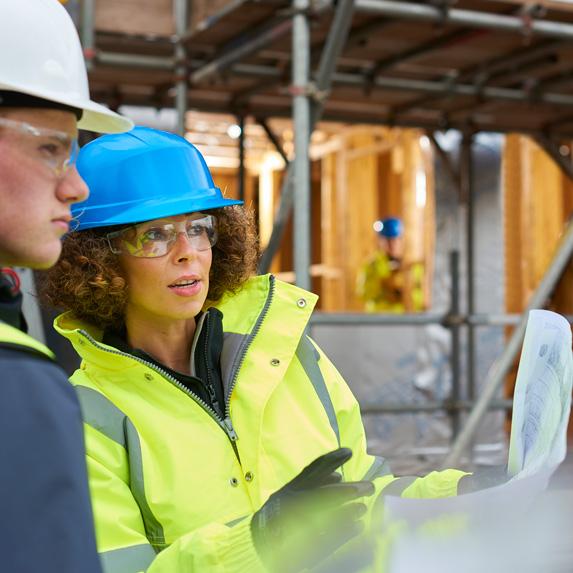 Construction estimator on site