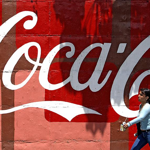 Coca Cola-Femsa logo painted on wall