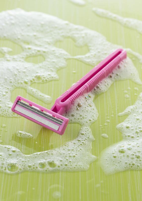 Pink disposable razor