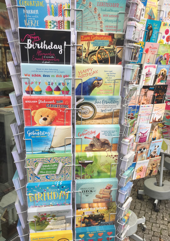 Rack of greeting cards