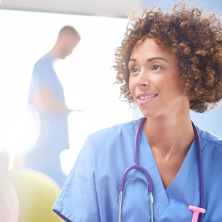 Registered nurse in a hospital