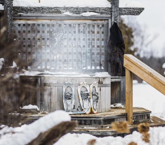 Outdoor spa facility at Grail Springs