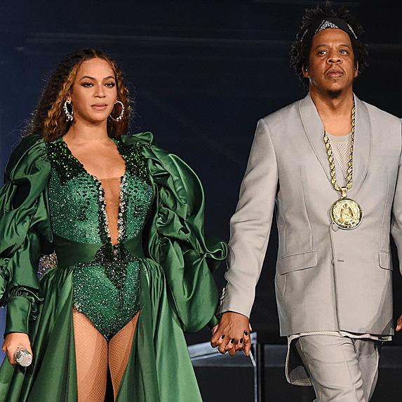 Beyoncé and Jay Z performing at the Global Citizen Festival in December 2018
