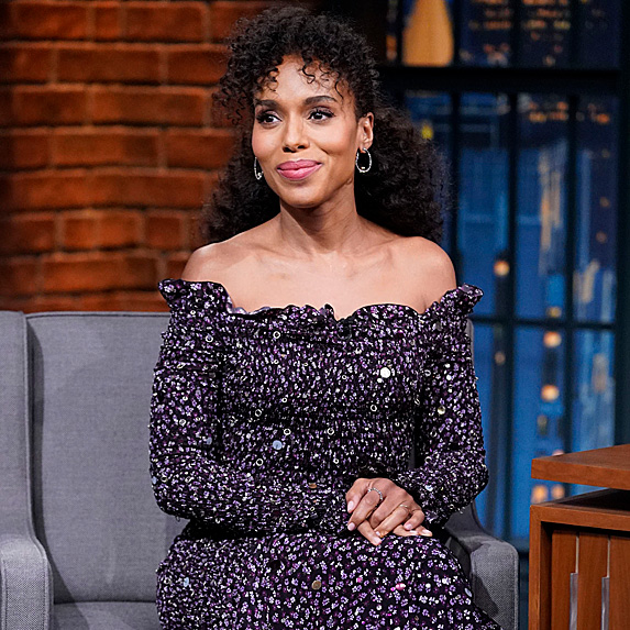 Kerry Washington on 'Late Night with Seth Meyers' in November 2018