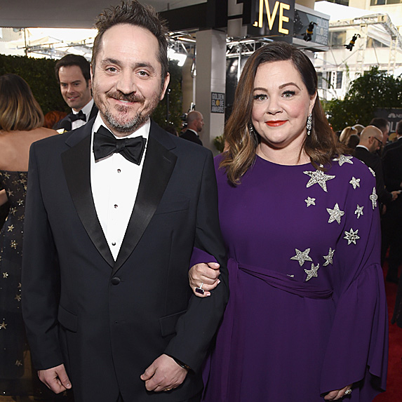 Ben Falcone and Melissa McCarthy at the 2019 Golden Globes