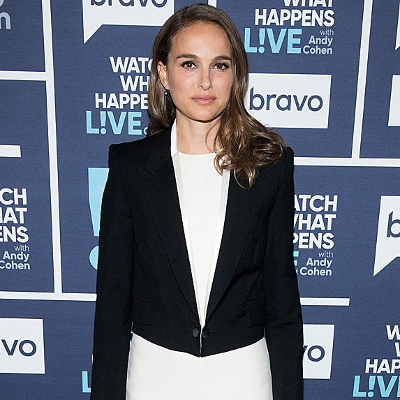 Natalie Portman at taping of 'Watch What Happens Live' in December 2018