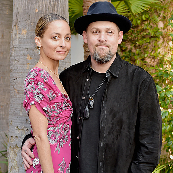 Nicole Richie and Joel Madden at the Fashion Los Angeles Awards in April 2018