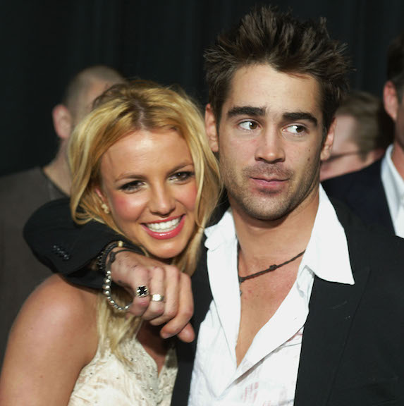 Britney Spears and Colin Farrell attend a movie premiere as a couple in 2003