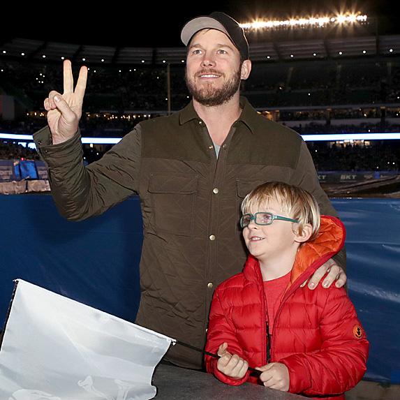 Chris Pratt and son