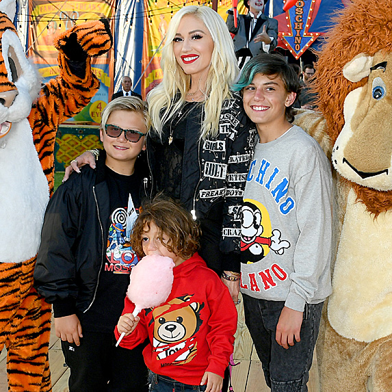 Gwen Stefani and her three sons