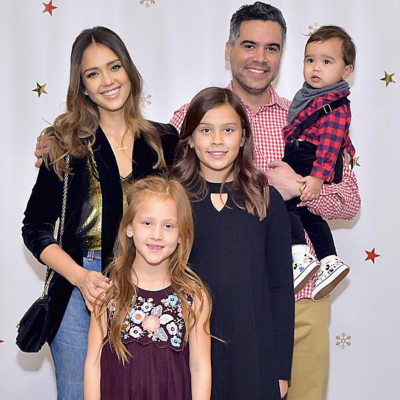 Jessica Alba, Cash Warren and their three kids