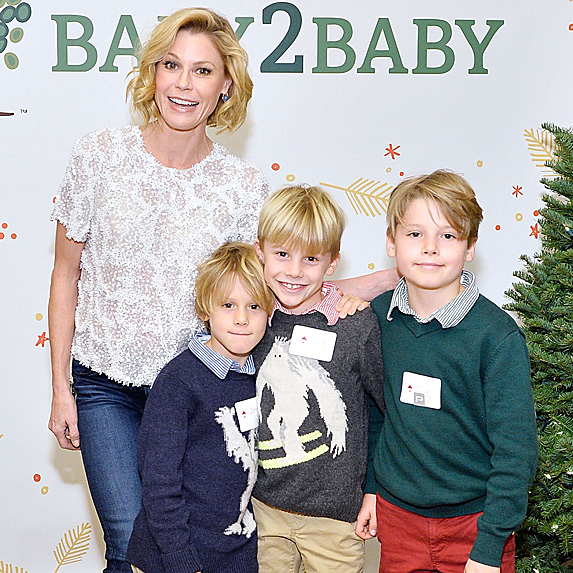 Julie Bowen and her three sons