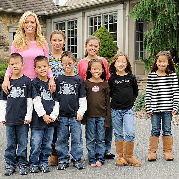 Kate Gosselin and her eight children