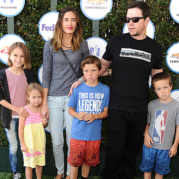 Mark Wahlberg, Rhea Durham and their four children