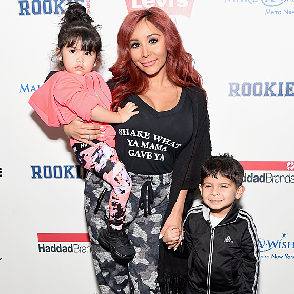 Nicole Polizzi and her daughter and son