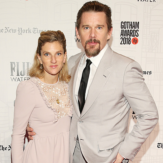 Ryan Shawhughes and Ethan Hawke standing arm-in-arm at an event