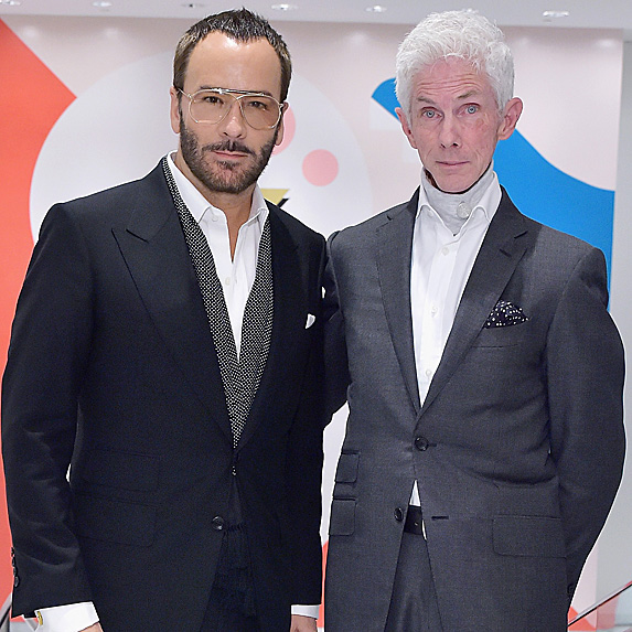 Tom Ford and Richard Buckley standing side-by-side