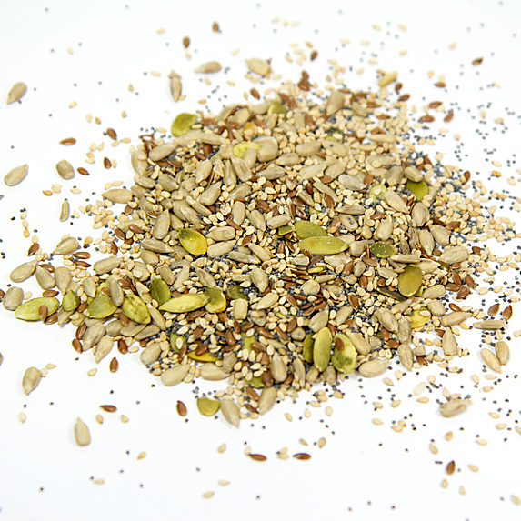 Pile of various seeds
