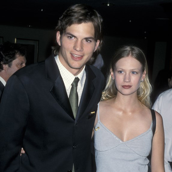Ashton Kutcher and January Jones on the red carpet