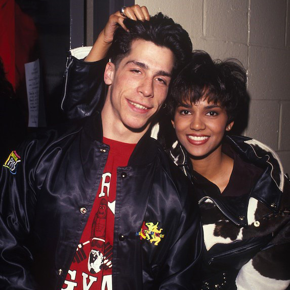 Halle Berry and Danny Wood backstage