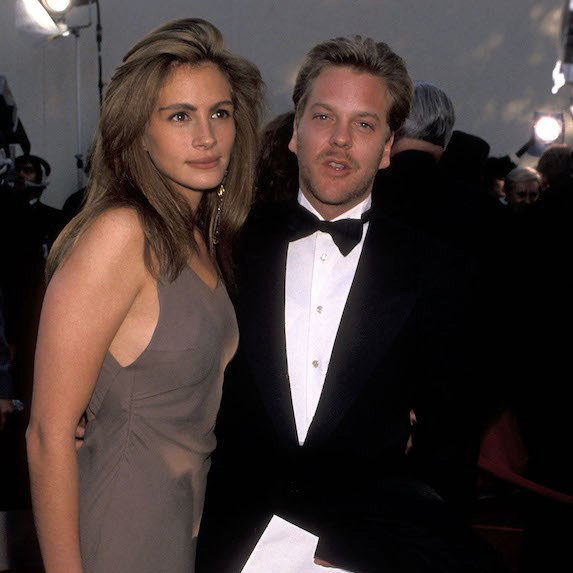 Julia Roberts and Kiefer Sutherland on the red carpet