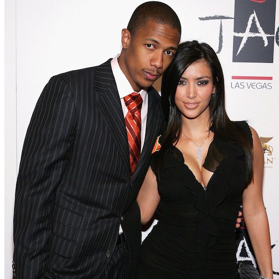 Kim Kardashian and Nick Cannon on the red carpet