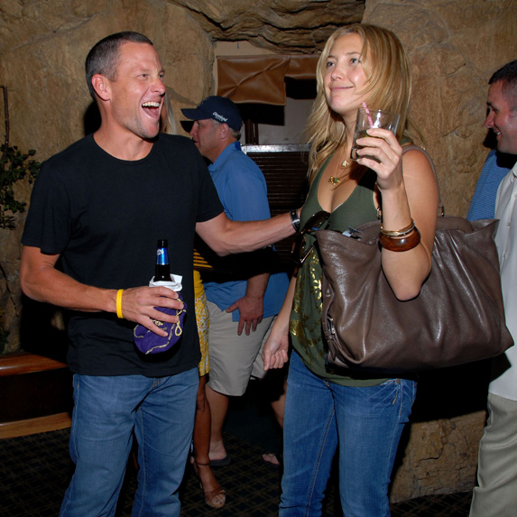 Lance Armstrong and Kate Hudson