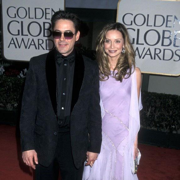 Robert Downey Jr. and Calista Flockhart at the Golden Globes
