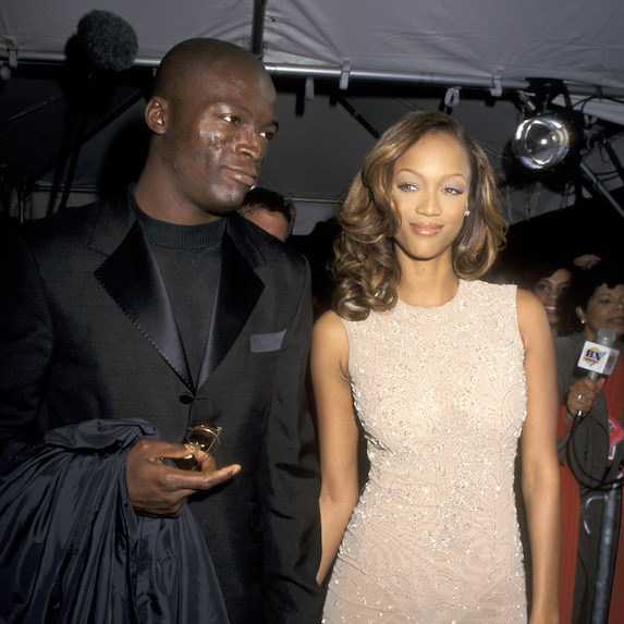 Tyra Banks and Seal at an event