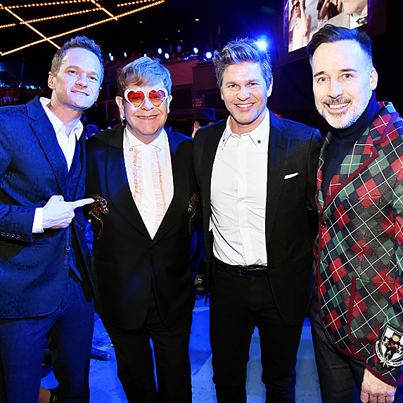 Neil Patrick Harris, Elton John, David Burtka and David Furnish
