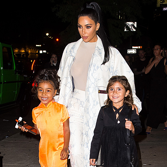 North West, Kim Kardashian and Penelope Disick