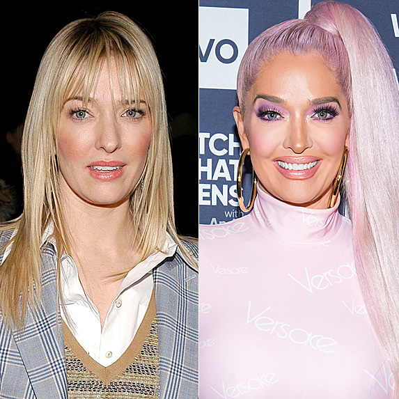 Erika Jayne in 2002; and in 2019