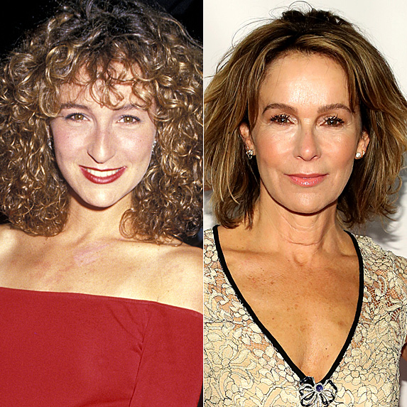 Jennifer Grey in 1987; and in 2018