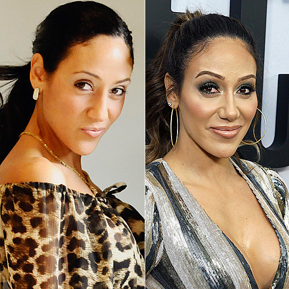 Melissa Gorga in 2010; and in 2018