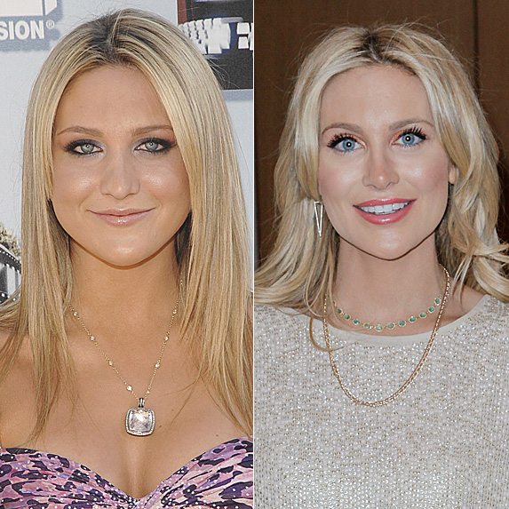 Stephanie Pratt in 2006; and in 2018