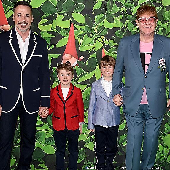 David Furnish, Elton John and their two sons
