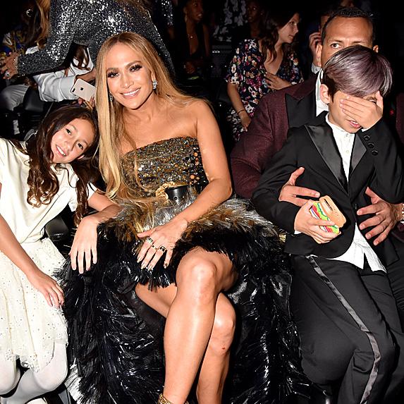 Jennifer Lopez, her children and Alex Rodriguez