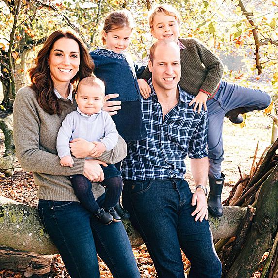 Duchess Kate, Prince Louis, Princess Charlotte, Prince William and Prince George