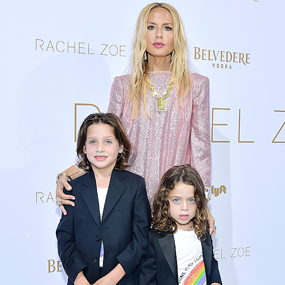 Rachel Zoe and her two sons
