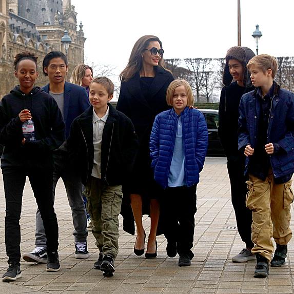 Angelina Jolie and her six kids