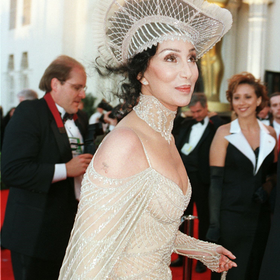 Cher on the red carpet