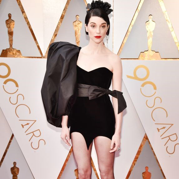 St. Vincent on the red carpet