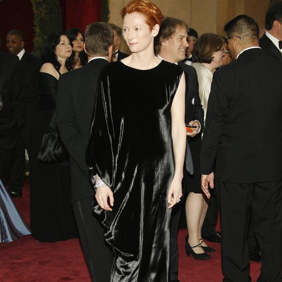 Tilda Swinton on the red carpet