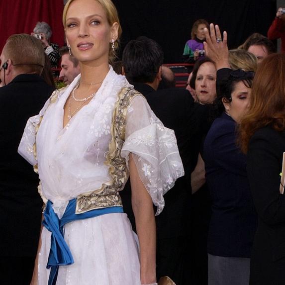 Uma Thurman on the red carpet