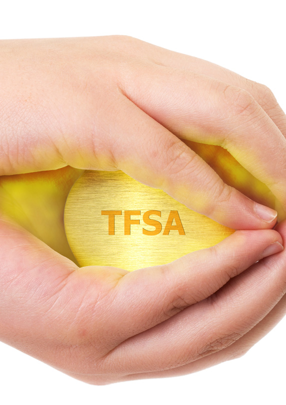 Hands holding an egg labelled TFSA