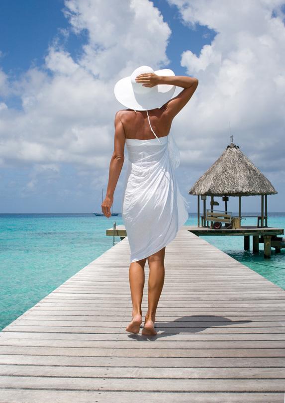 Woman wearing a sarong