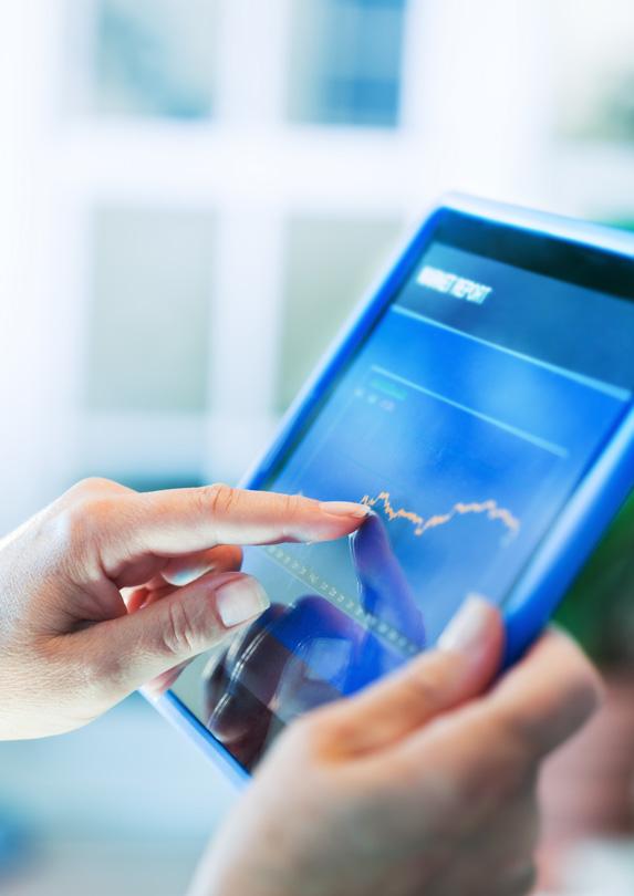 Investor using tablet