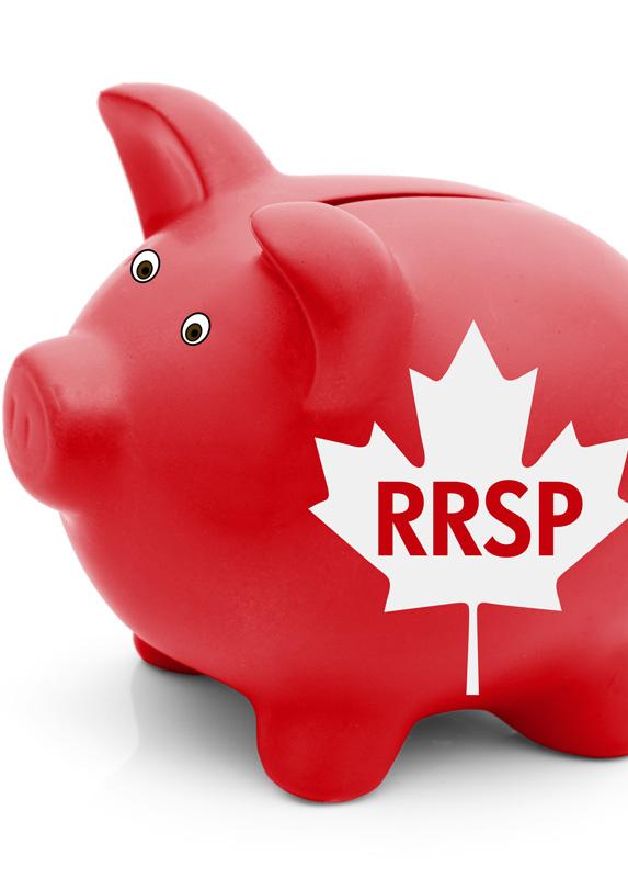 Piggy bank labelled RRSP