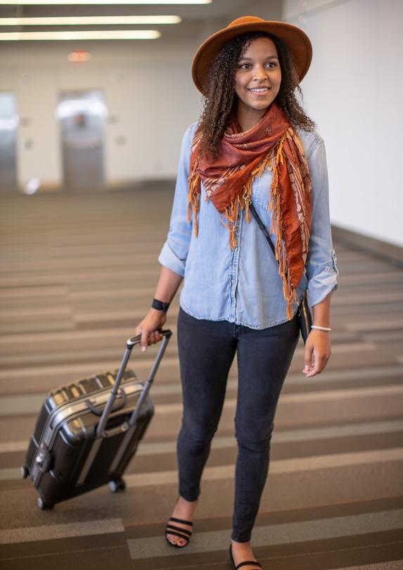 Nicely dressed traveller