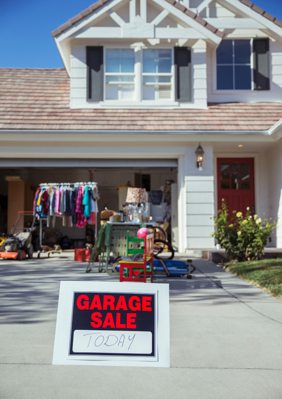 Garage sale scene